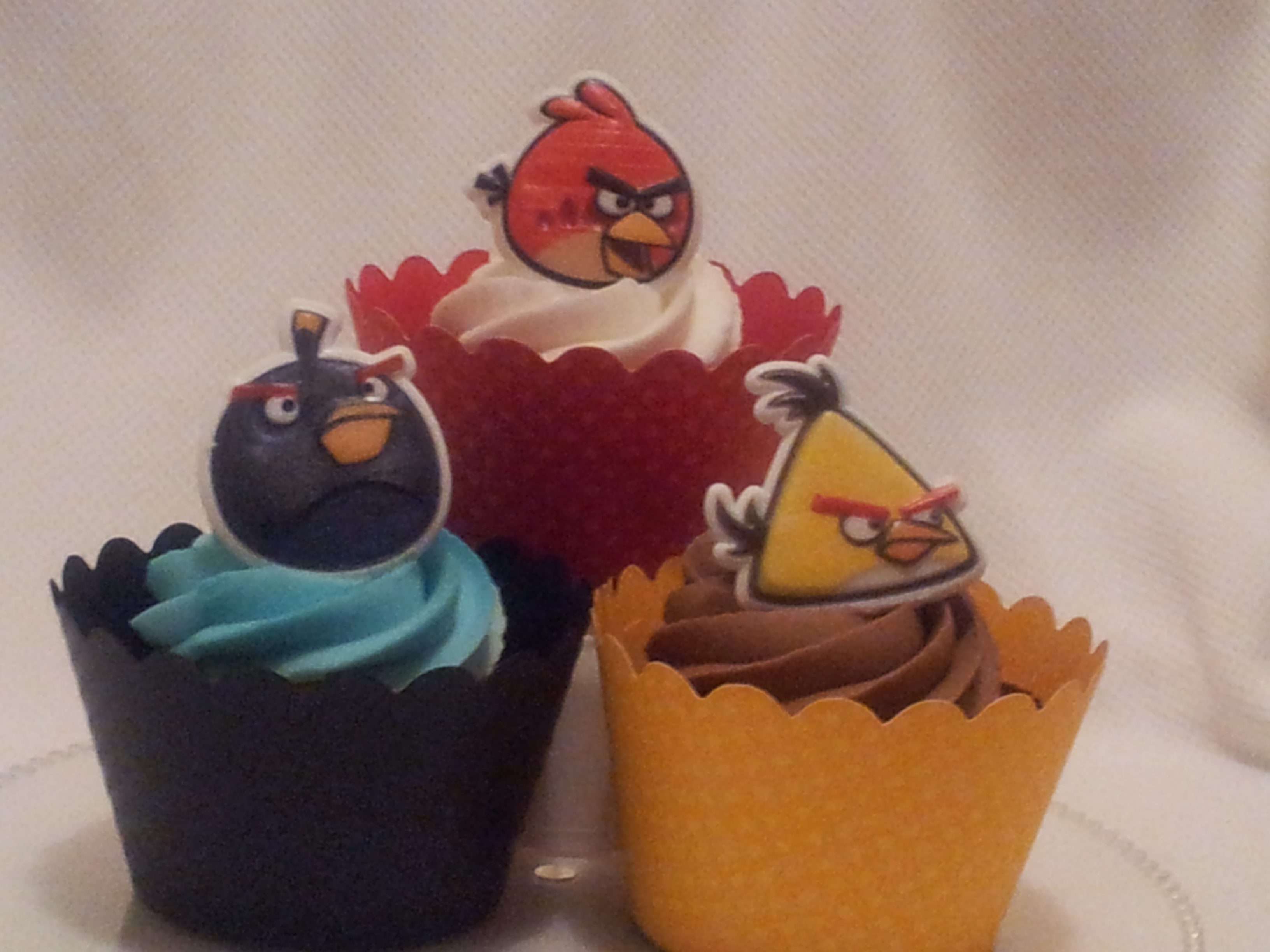 Angry Birds Cupcake Rings images